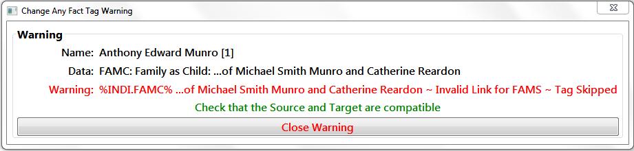 Warning Message