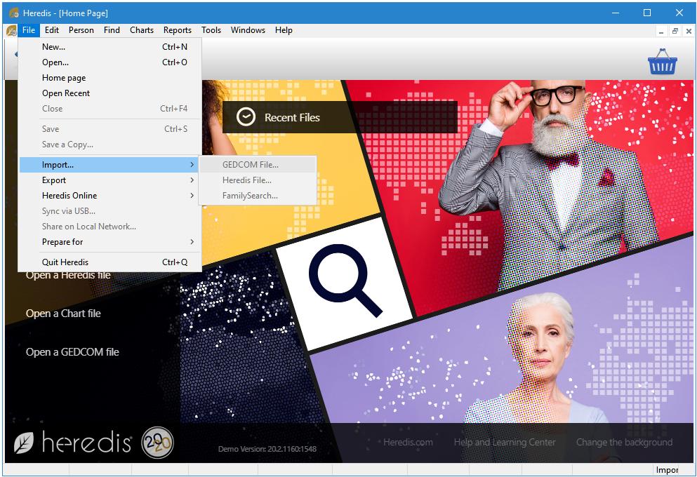 Heredis for Windows 2020 Home Page