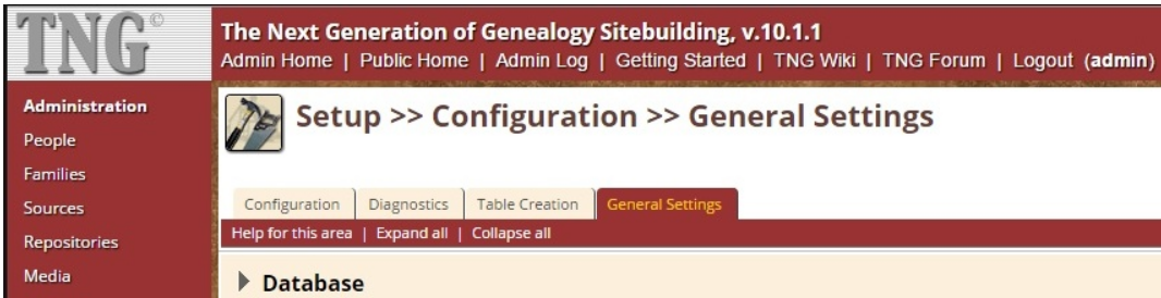 Administration > Setup > Configuration > General Settings