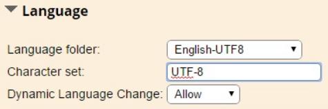 Administration > Setup > Configuration > General Settings > Language