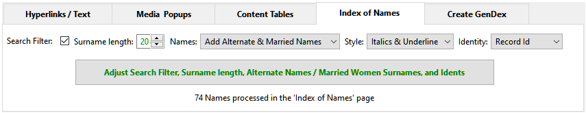 Index of Names Tab